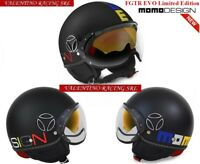 MOMO DESIGN FGTR EVO LIMITED EDITION CASCO JET BLACK MULTICOLOR FROST OPACO  TG S 35bd1b7ca1b2