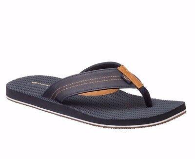 51077643a7e8 Dockers Men s Navy Blue Flip Flops Sandals Men Size L 9.5 - 10.5 NEW