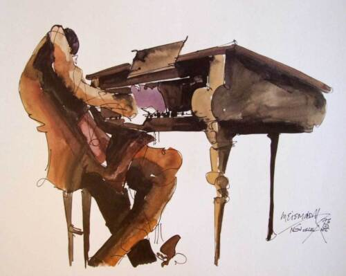 Leo Meiersdorff Piano Player Jazz Art Print New Orleans French Quarter