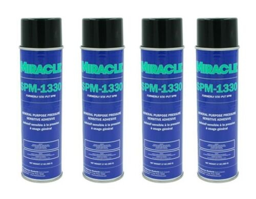AP Products 001-SPM17ACC QTY. 4, Sta-Put/ Miracle SPM-1330 Spray Adhesive