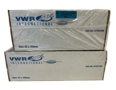 Vwr Culture Tubes 47729-586 16x150mm 47729-580 25x150mm Lot Of 375 6647
