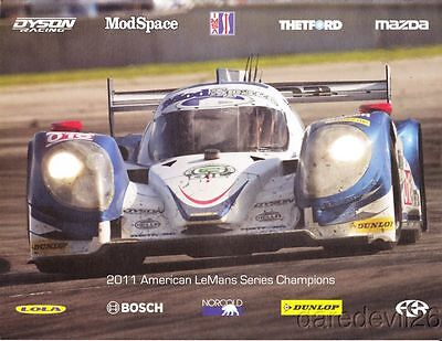 2012 Dyson Racing #16 Mazda Lola LMP1 Streets of Long Beach ALMS postcard