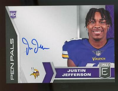 2020 Panini Donruss Elite Pen Pals #PP9 Justin Jefferson Auto Autograph RC