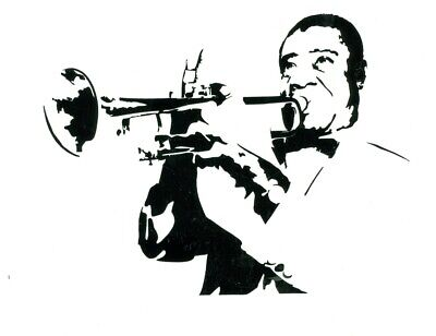 Louis Armstrong trumpet what a wonderful world singer Decal in/outdoor -