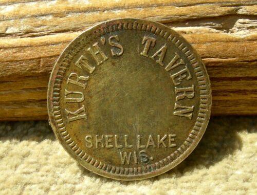 "antique SHELL LAKE, WISCONSIN WI (WASHBURN CO) ""KURTH"