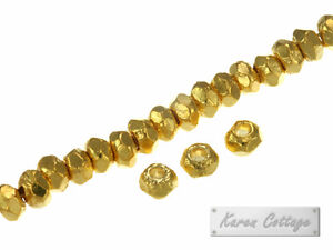 Karen-Hill-Tribe-Silver-Gold-vermeil-Plain-Hexagon-Spacer-3mm