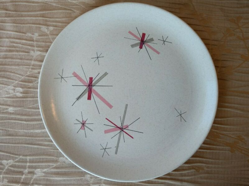 "Vintage Free Form by Salem China Hop Scotch Pink 10"" Dinner Plate MCM"