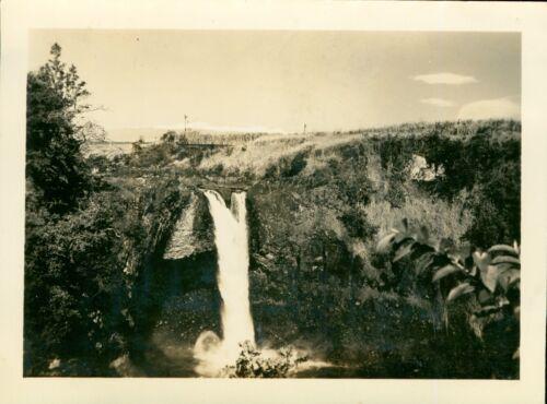 1940s Rainbow Falls, Hilo, Hawaii photo
