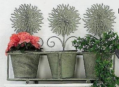 "Hoff Interieur 9791 Pflanztopf 3-er Set ""Hortus"" 43 x 15 x 35 cm Blume"