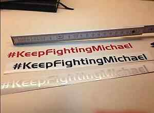 #Keep Fighting Michael Schumacher Formel 1 HERO F1 Aufkleber Genesung Hoffnung