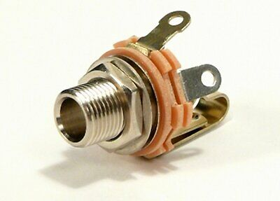 Shorting Jack - SWITCHCRAFT #L12A 1/4 INCH JACK Mono Shorting,Longer thread    Ships from USA