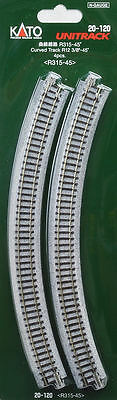 Kato 20-120 - 4 Pieces 315mm Rad Curved Wooden Sleeper Balast Uni Track N Gauge