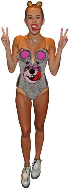 MILEY CYRUS in Teddy Bear Outfit Promo Shot Full Body Window Cling Decal Sticker