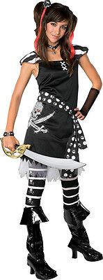 Scar-let Pirate Wench Caribbean Black Fancy Dress Up Halloween Teen Costume