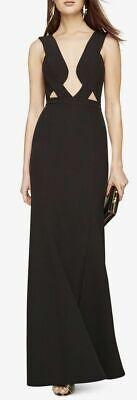 NEW BCBG MAX AZRIA LULU Sleeveless Fluted gown/dress $338 sz 0,2,4