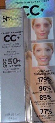 it Cosmetics cc+ Cream MEDIUM Your Skin But Better ~ 4ml / .135oz Full