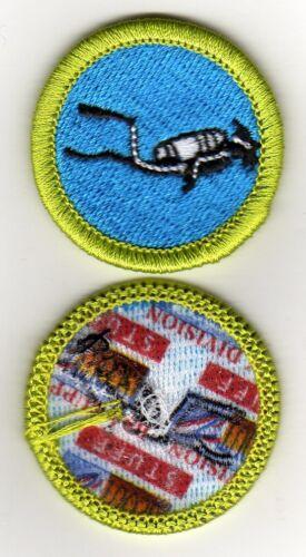 """Scuba Diving Merit Badge, Type J """"Scout Stuff"""" Back (2009-10), Mint"""