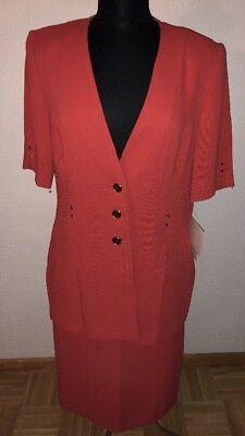 Schneberger Designer- Sommer Kostüm Zwei Teile, Gr. 38, Rot
