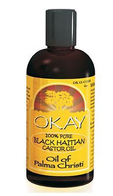 Okay 100  Pure Black Haitian Castor Oil  4 Oz
