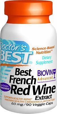 Best French Red Wine Extract, 60mg, 90 veggie caps, Doctor's (Best Red Wine Antioxidants)