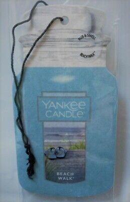 Yankee Candle Beach Walk Car Jar Air Freshener New & Sealed!