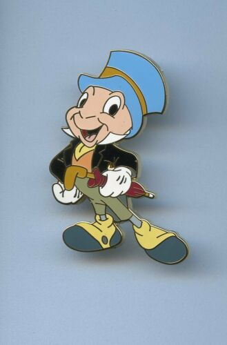 Disney Auctions Pinocchio Jiminy Cricket holding Umbrella LE 250 Pin & Card