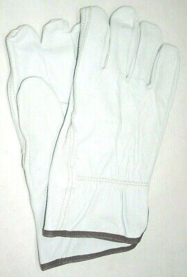 Goatskin Leather Gloves Driver Glove Gray Mens Work Gloves Size Large Pair