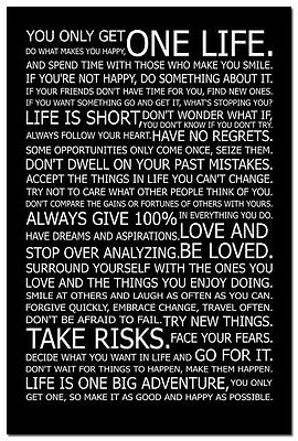 Make Life Happy   Motivational Quotes Silk Poster 13X20 24X36   Home Decor