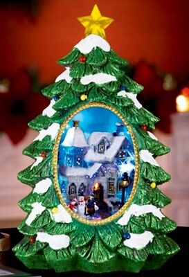 Christmas Tree LED Musical Village Scene Centerpiece Tabletop Wreath Swag FLORAL
