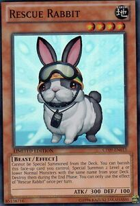YU GI OH   CT09-EN015  RESCUE  RABBIT   SUPER RARE