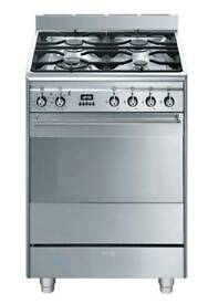 Box Pack SMEG SUK61PX8 60 cm Dual Fuel Cooker - Stainless Steel £629.99