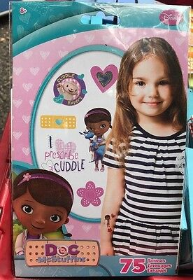 Disney Doc McStuffins Tattoos - 75 CT - TT2047 NEW - Doc Mcstuffins Tattoos