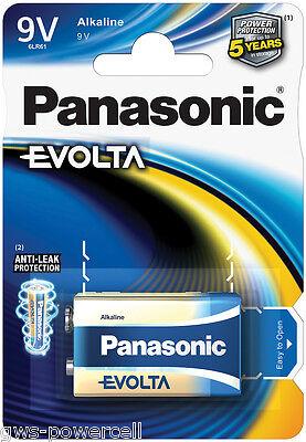 3 x Panasonic Evolta 9V Block Blister Alkaline Power 6LR61 E-Block