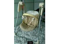 BABY'S UNISEX GRACO HEDGEROW BABY 2 SPEED SWING SEAT