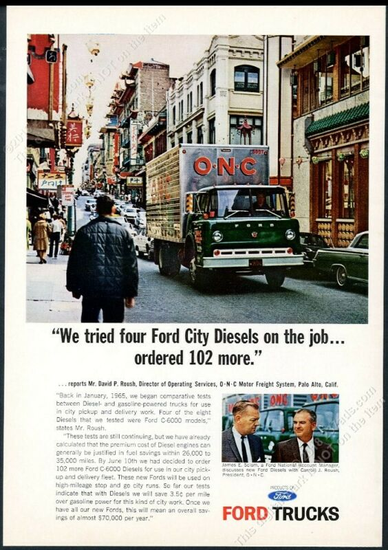 1965 San Francisco Chinatown photo Ford C-6000 truck vintage print ad