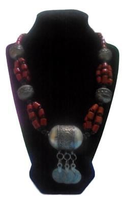Handmade  African Berber Moroccan Coral Necklace