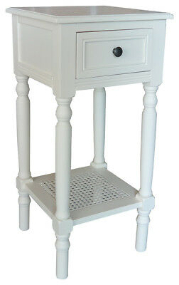 Accent Furniture New Haven - New Haven Accent Table with Drawer and Rattan Shelf