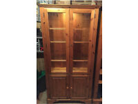 Pine display cabinet