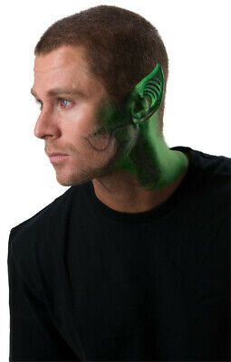 Halloween Makeup Tips (Green Space Ear Tips Latex Make Up Outer Space Halloween Alien Costume)