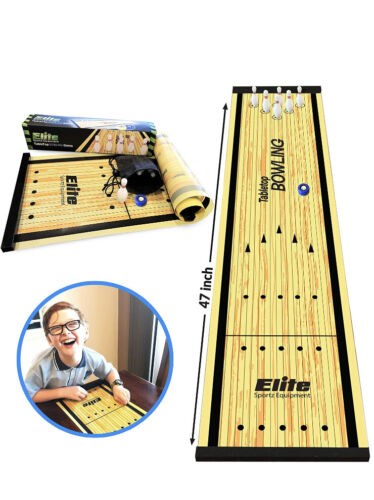 equipment tabletop bowling game indoor sports shuffleboard