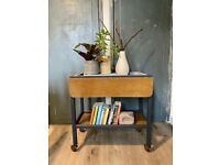 Upcycled vintage bar trolley