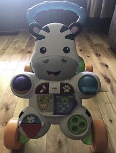 """Zebra """"Learn to walk"""" toy"""