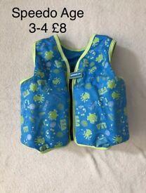 Speedo swim vests age 3-4 pink blue