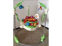 Fisher Price Rainforest Jumperoo, like new, used at Grandparents