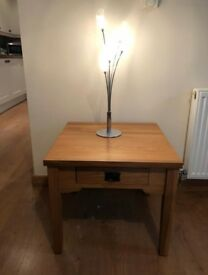 Oak side table/ lamp table
