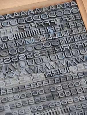 Bleischrift 9mm Bleisatz Buchdruck Handsatz Lettern Bleiletter Steckschrift Blei