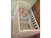 East Coast Nursery Anna Dropside Cot - White