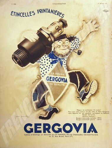 Advertising Candle Gergovia 28x38 Stone Leconte 2 Colors 1933