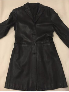 CUE Ladies Black Leather Jacket Size 10 Meadowbank Ryde Area Preview