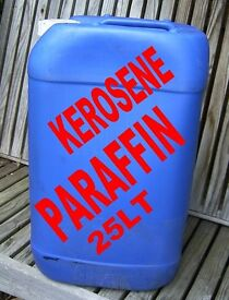 PARAFFIN KEROSENE 25 TO 125 LT IN PLASTIC CONTAINERS GREENHOUSE HEATING GARAGE WASH DOWN £30 TO £125